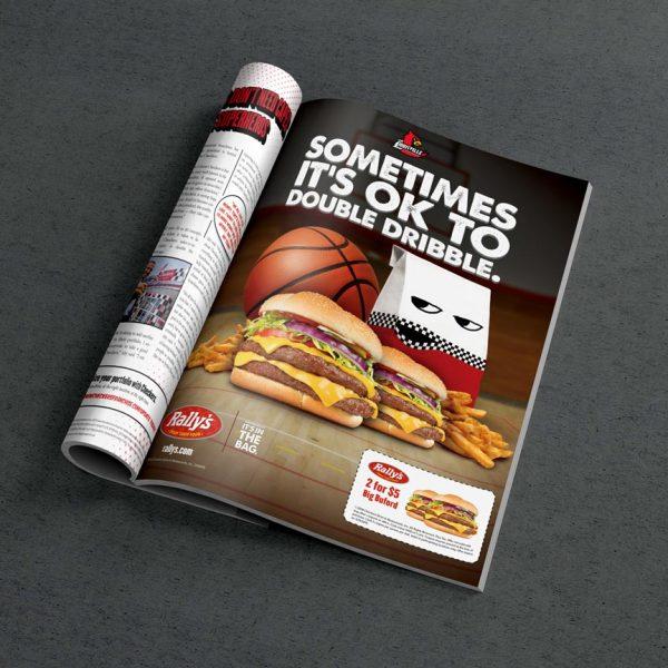 Checkers Rally's Mr. Bag Print Ad