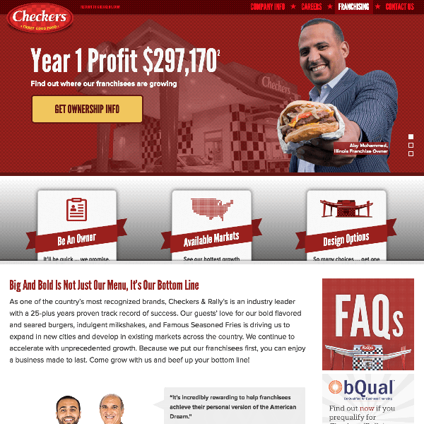 Checkers Rally's Franchise Development Homepage